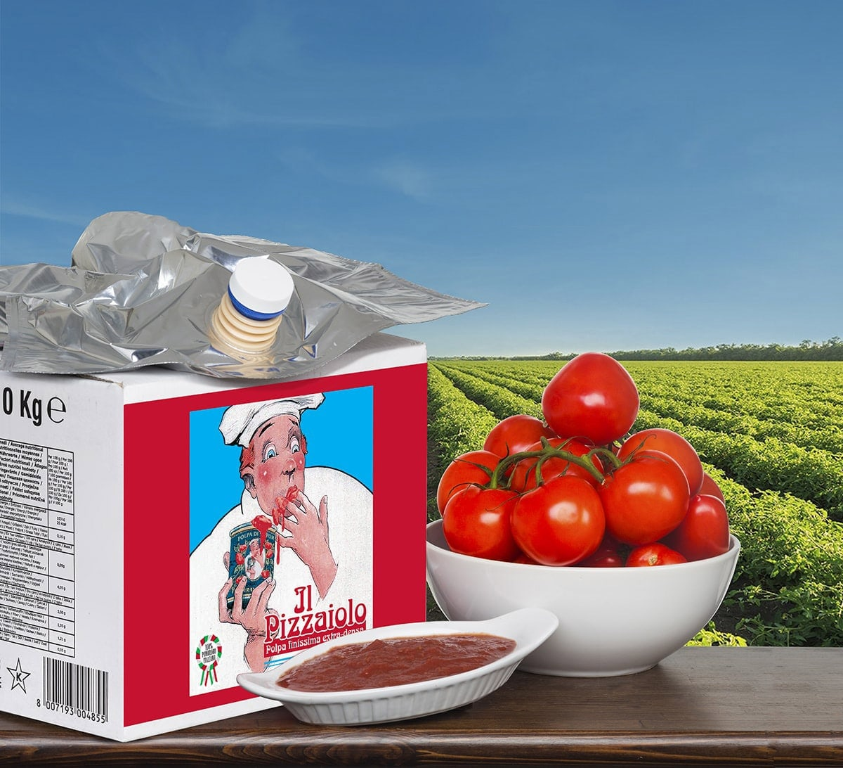 crushed tomatoes bag in box